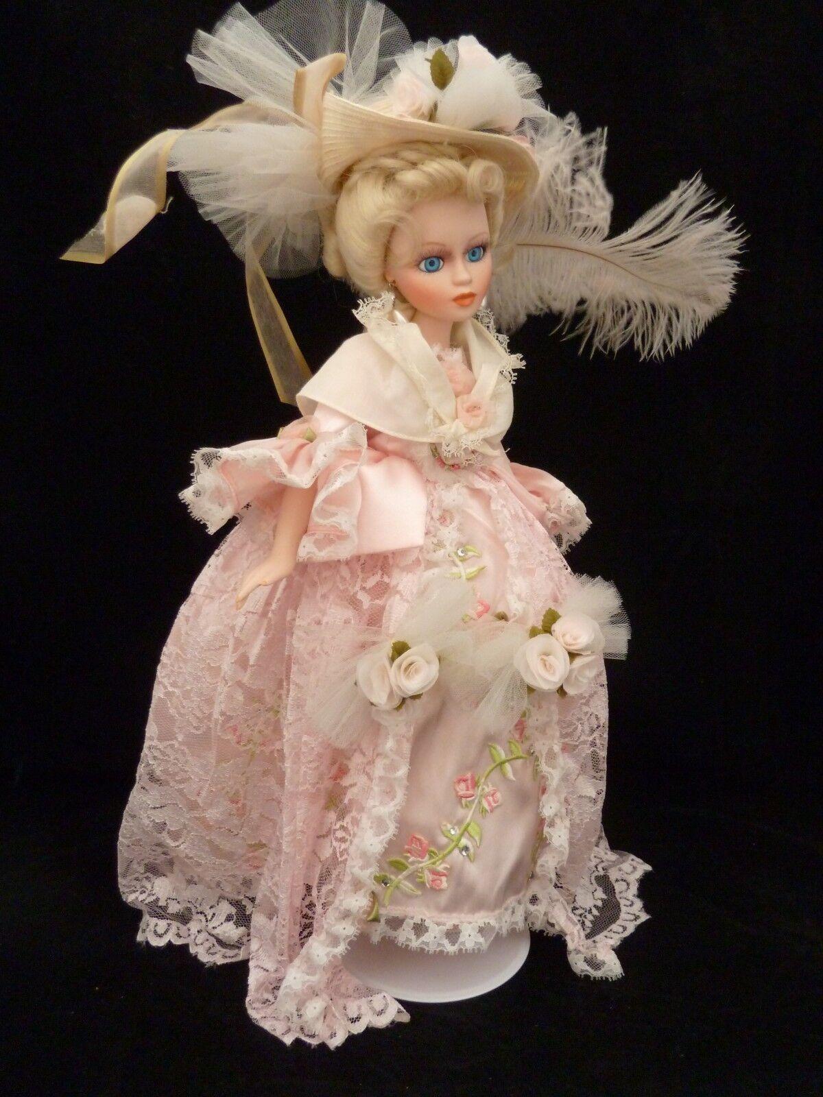 17  Muñeca De Porcelana exquisita rosado Articulada extremidades