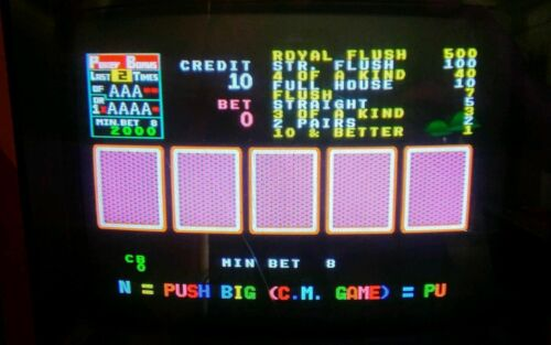 8LINER CHERRY MASTER POG POKER PCB POKER MASTER 2IN1 BY DYNA /& CORSICA