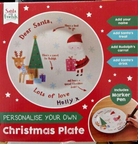 Placa de cena de Navidad crea uno para niños apto para lavavajillas y microondas