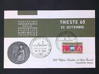 Italien 1969 Tireste Triest Cover D2817