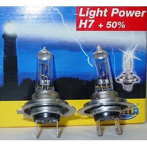 Details about HELLA H7 LIGHT POWER +50% HEADLIGHT BULBS, PAIR