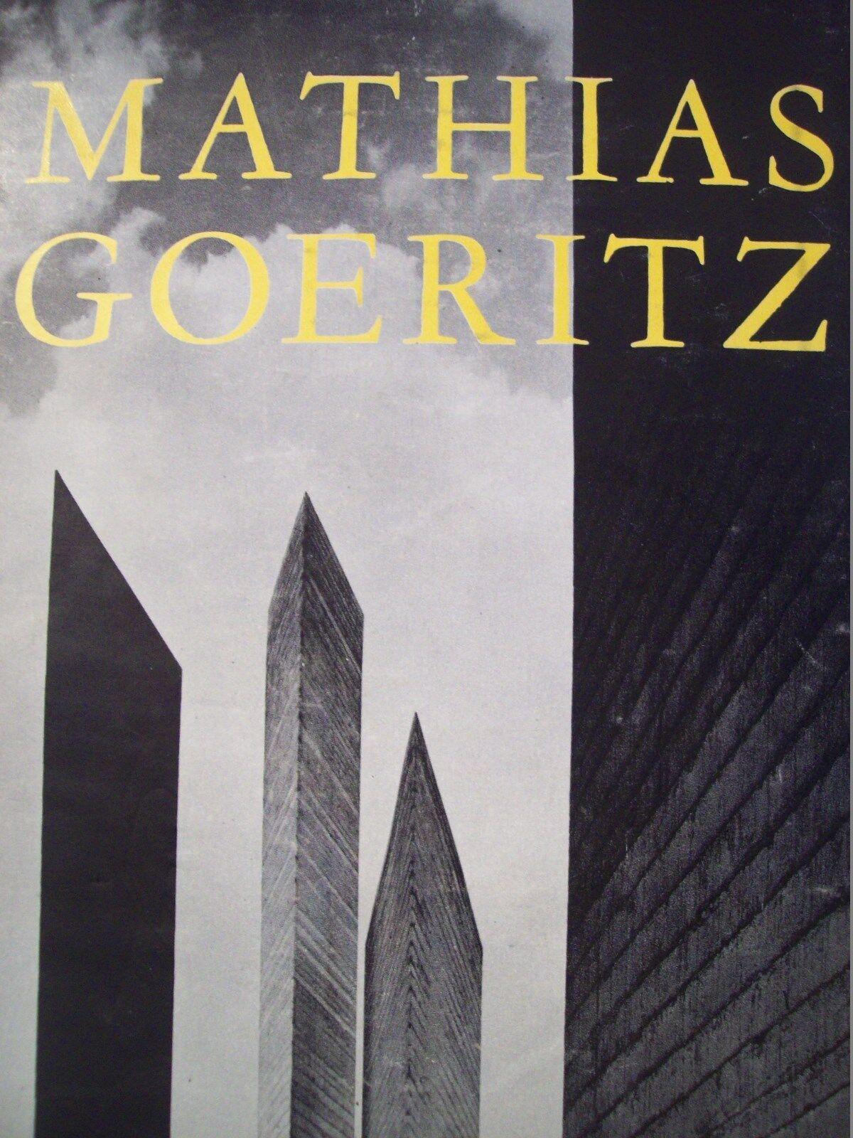 1963 Mexican Art Book MATHIAS GOERITZ