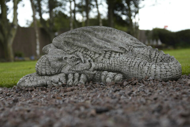 DRAGON VERY LARGE STONE MYTHICAL GARDEN ORNAMENT
