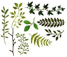 Sizzix Thinlits Garden Greens #661206 9pk set Retail $19.99 designer Tim Holtz