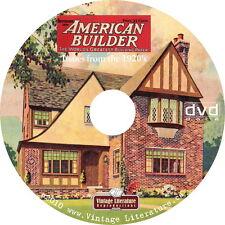 American Home Builder Magazine - 1920's House Design Plans on DVD