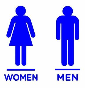 women men restroom bathroom logo decals stickers choose your size rh ebay com restroom log pdf restroom log pdf