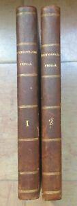 COLLIN-DE-PLANCY-1819-Dictionnaire-Feodal-2-VOL-AUTOGRAPHE-DE-L-039-AUTEUR