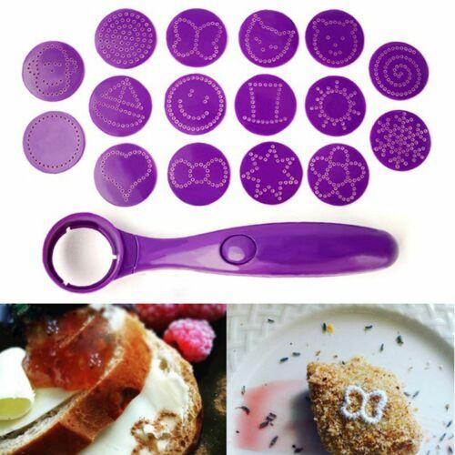 1 pièce nouvelle magic Spice Spoon Food Decorating outils de 16 images différentes DEC Z8F3