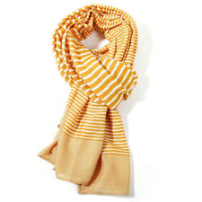 The Olive House® Womens St Ives Stripe Scarf Navy Blue Stripes