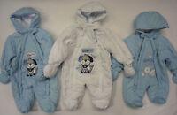Baby Boys Babies Bodysuit Winter Padded Snow Suit Snowsuit Romper Newborn 0-6