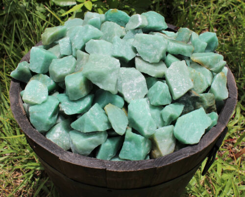 Raw Gemstone 1000 Carat Bulk Lot Natural Rough Green Aventurine 200 Grams