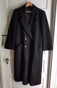 84d3cd3385 Image is loading Vintage-Fleurette-Saks-Fifth-Avenue-Black-Cashmere-Long-