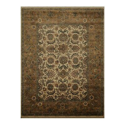 8 9 X11 9 Samad Hand Knotted 100 Wool Agra Oriental Area Rug Beige Thick Pile Ebay