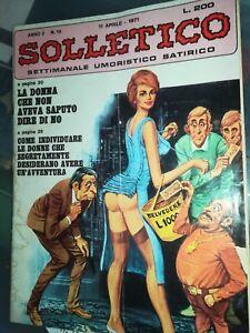 SOLLETICO-Rivista-Umoristico-Satirico-Erotica-Illustrata-1971-N-14-Anno-2-sexy