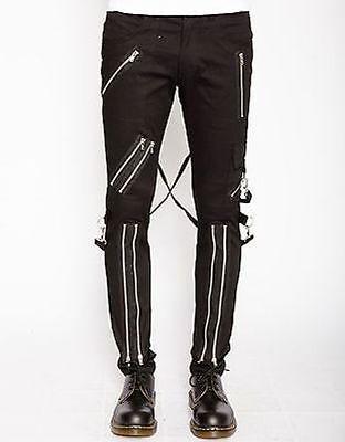 Tripp Nyc Classic Bondage Pants Mens Rock Goth Punk Skater Chains Skull Metal