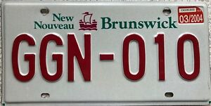 GENUINE-Canada-New-Brunswick-Sailing-Ship-License-Licence-Number-Plate-GGN-010