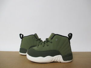 cheap for discount 9d8bc 8e9f1 Details about AIR JORDAN 12 OLIVE GREEN CANVAS CP3 TODDLER 2-10