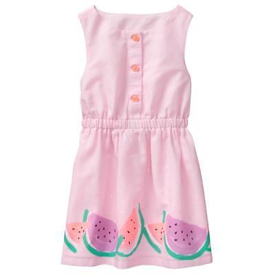 NWT Gymboree Sunny Adventure Melon Dress Watermelon Toddler Girl 2T,3T,4T,5T