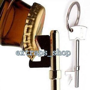 2X-Mini-Key-Shaped-Beer-Bottle-Opener-Ring-Keyring-Chain-Metal-Bar-Tool-Silver-E
