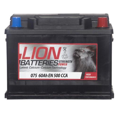 Lion MF55457 075 Car Battery 3 Years Warranty 60Ah 500cca 12V Electrical