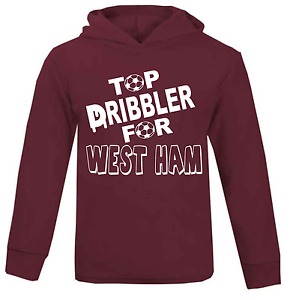 Top Dribbler for West Ham Football Baby Hoodie Jumper 100/% Cotton Baby