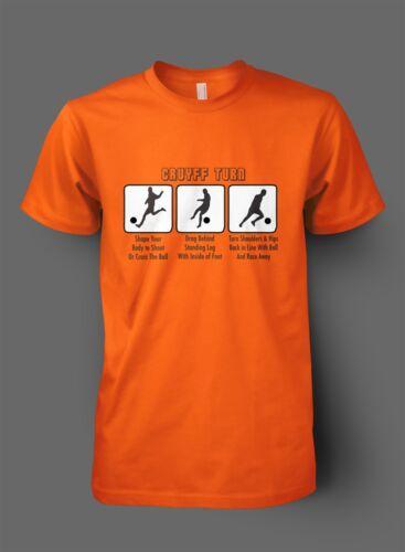 Cruyff Turn legend Holland Football T shirt Netherlands Fan Shirt NEW