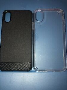Lot-Of-2pc-Iphone-Xs-Speck-Clear-Case-amp-Sprint-Key-Case