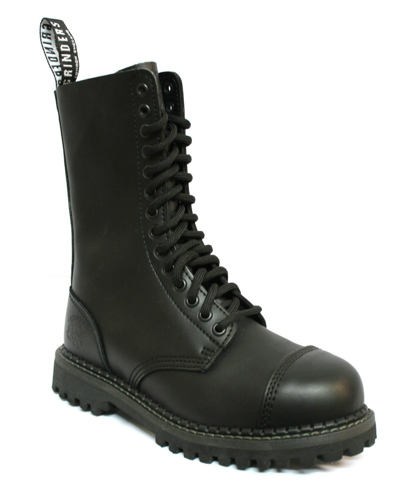 Grinders Herald Herren Formelle Schwarz 14 Eye Leder Militär Uniform Stiefel NEU