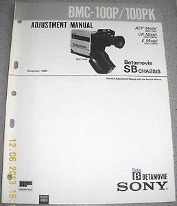 SONY-BMC-100P-100PK-Betamovie-Video-Camera-Adjustment-Manual-inkl-correction-1-2