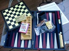 Combination Game Set In Vinyl Carrying Case -5 Different Games