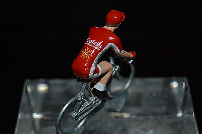 Cofidis 2017 - Petit Cycliste Figurine - Cycling Figure Superficie Lucente
