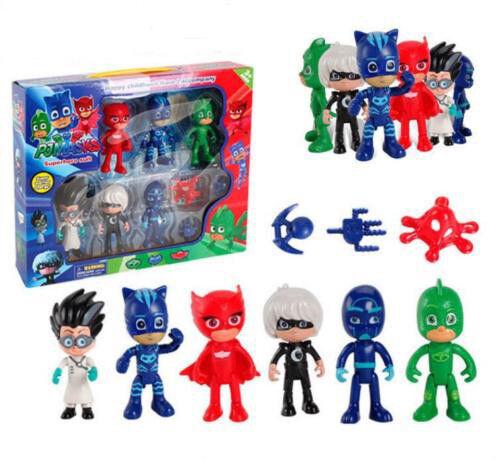 Mode Kinder 6Stk PJ Mask Catboy Owlette Glider Gekko Cloak Spielzeug Figuren;Toy