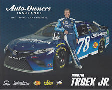 "2017 MARTIN TRUEX JR ""AUTO OWNERS KANSAS"" #78 MONSTER ENERGY NASCAR CUP POSTCARD"