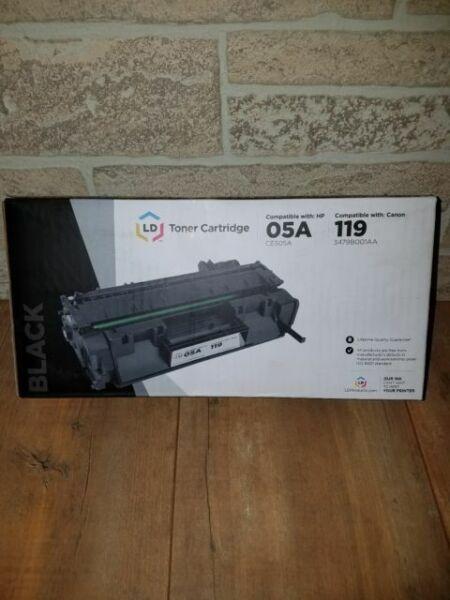 3479B001AA Black Toner Cartridge LD HP 05A Compatible Canon 119