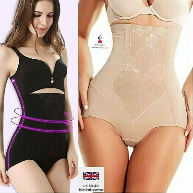 16-18 Womens Shapewear Seamfree High Waist Slimming Control Briefs Tummy Tuck Bum Lift Large//UK White