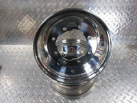 Raptor 660 Pair Of Front Wheels Rims Polished Boss Racing 10x5 3+2