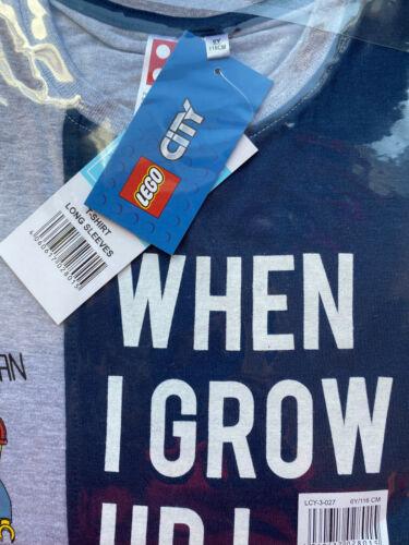 Lego City Langarmshirt original neu Jungen 6 Jahre Gr.116 When I grow up Beruf