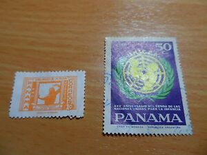 Bundle of vintage Panama stamps