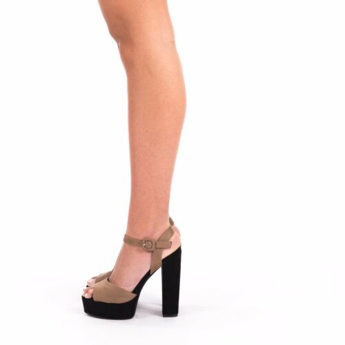 Women/'s Ladies Block High Heel Ankle Strap Peep Toe Strappy Girls Sandals Shoes