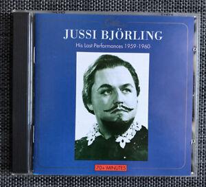 Jussi Bjorling : His Last Performances 1959-1960  (CD)