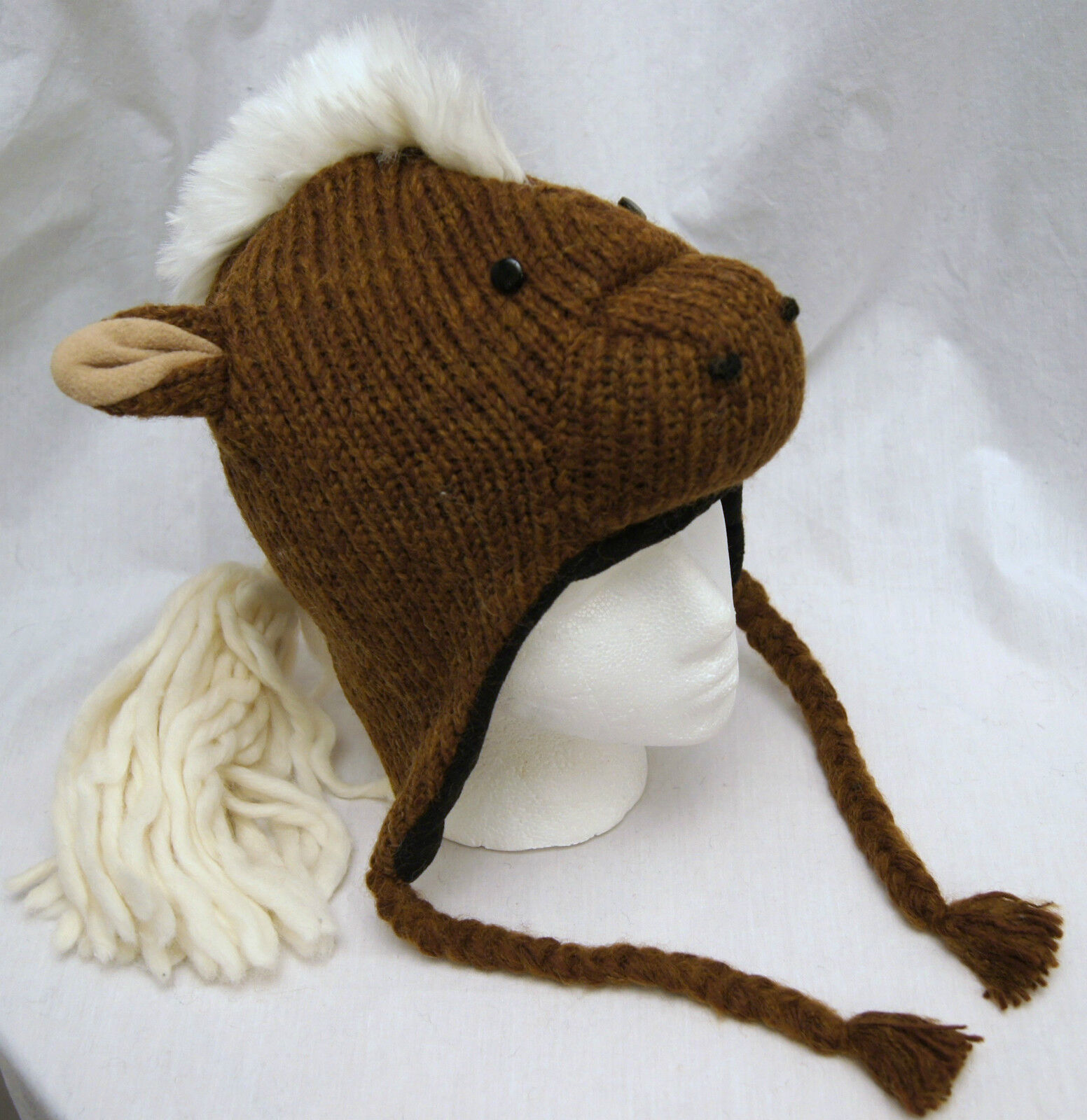 Special Ed deLux HORSE HAT knit ADULT costume LINED animal cap for people human