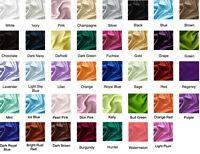 10 Yards Satin Fabric 60 Sash Tablecloth Runner Overlay 22 Colors Elena Linens