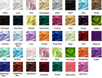 15 Yards Satin Fabric 60 Sash Tablecloth Runner Overlay 22 Colors Elena Linens