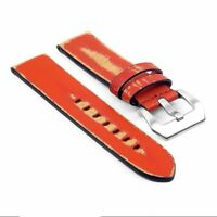 Strapsco St13 Destroyed Thick Vintage Rust Leather Watch Mens Distressed Strap