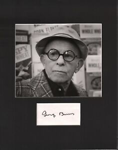George-Burns-Signed-Autographed-Cut-Matted-11x14-w-COA-073019DBT2