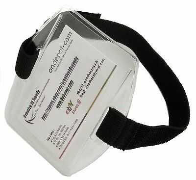 """CLEAR VINYL CREDENTIAL BADGE ID HOLDER VERTICAL OVERSIZE 6 7//8/"""" x 4 3//8/"""""""