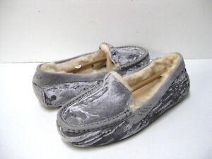 950354655f1 Details about UGG ANSLEY CRUSHED VELVET WOMEN SLIPPER SLIVER US 10 /UK 8.5  /EU 41