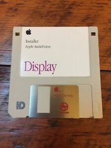 Vtg-1993-Mac-Macintosh-AudioVision-Display-Installer-Software-3-5-034-Floppy-Disk