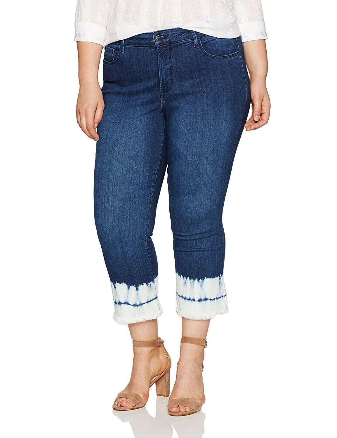 NYDJ Womens Collection Plus SZ Billie Ankle Bootcut Jeans in Sure
