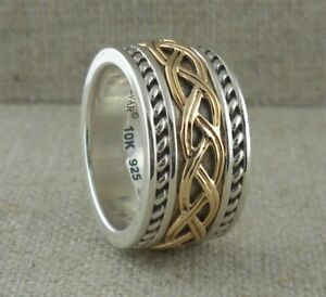 Sterling Silver 10K Celtic Knot Wedding Ring Made in Ireland by